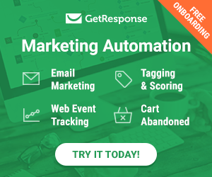 GetResponse automation software banner